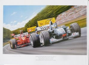 DAVID COULTHARD McLaren MP4/13 wins 1998 San Marino GP by KW DAVIES
